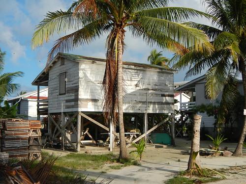 Fisherman's house on back side of Caye Caulker