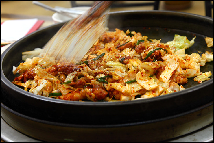 frying-dak-galbi