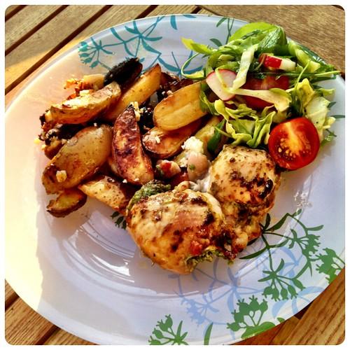 Kyckling med klyftpotatis