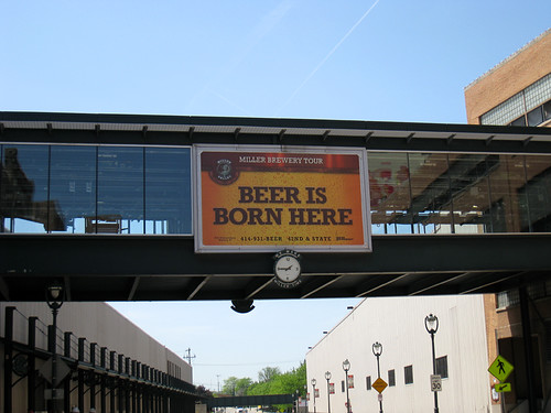Beer is Born Here sign