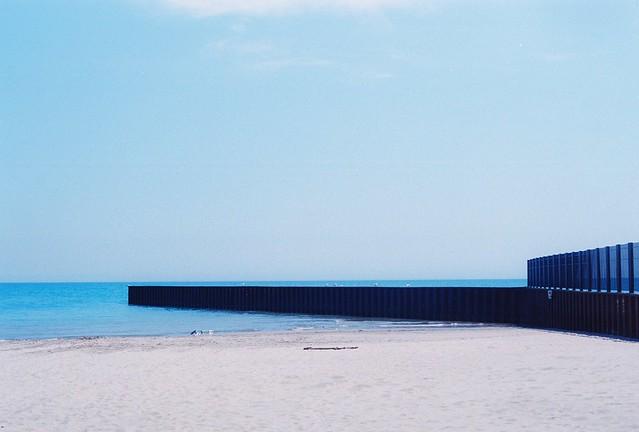 Chicago beach blue