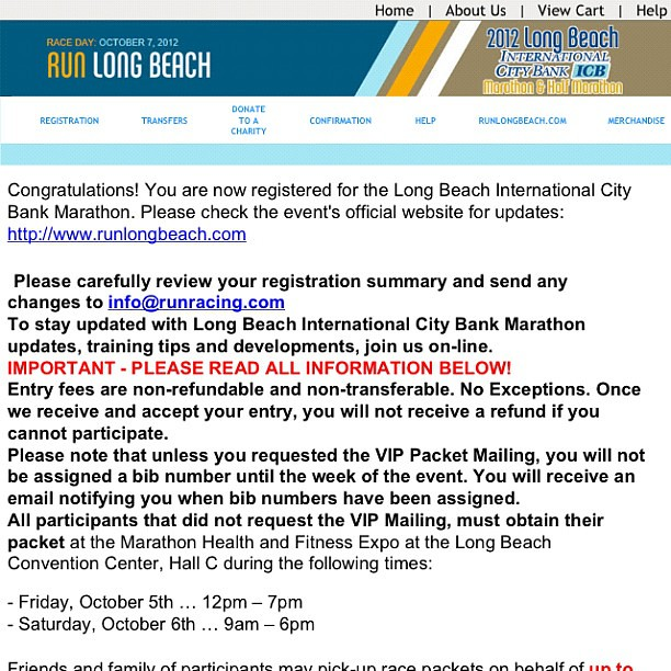 Dear @caseyruns @chicrunner @runracing and @runteamsparkle I signed up for the Long Beach 1/2. Time to plan my training. I want a fiesta post-race! #runlb