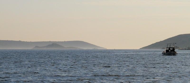 Navette filant vers les îles