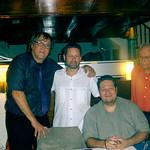 Con Lennart , Christian y Pardina, tres monstruos