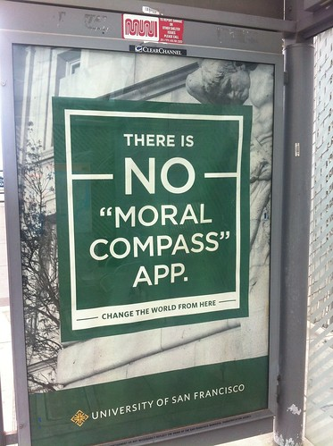 "There is no ""moral compass"" app."