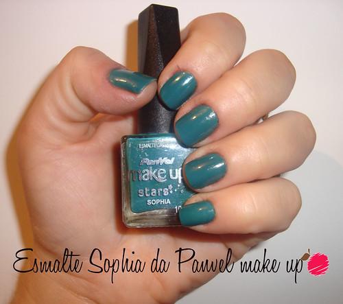 Unhas da semana: verde, com Sophia da Panvel Make Up