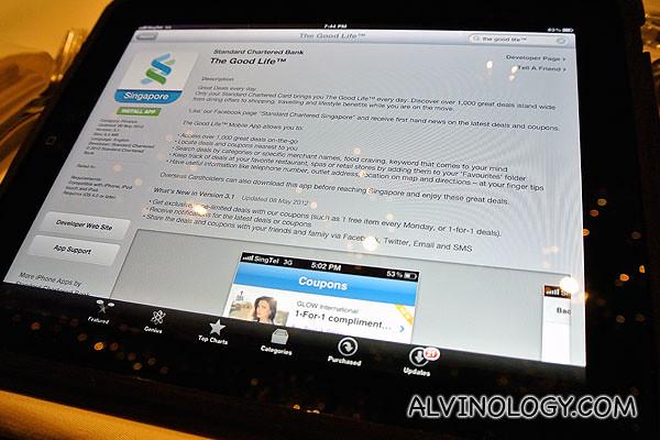 The Good Life mobile app on iPad