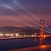 Spotlight on the Golden Gate Bridge by danielpivnick