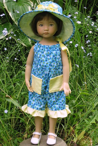 Janie Wearing Sunsuit by elizabeth's*whimsies