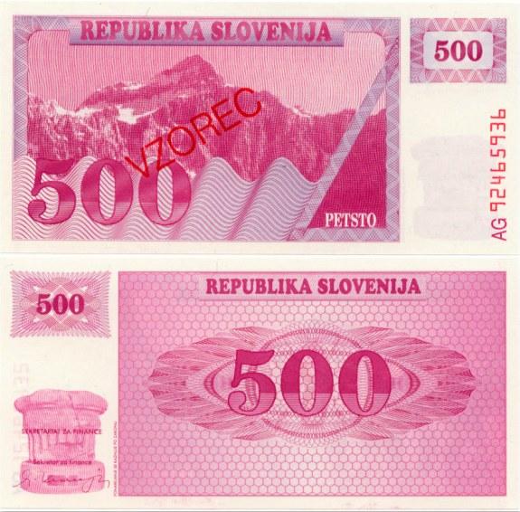500 Toliarov Slovinsko 1990, VZOREC Pick 8s1