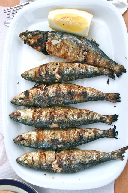 Grilled Sardines in The Algarve, Portugal