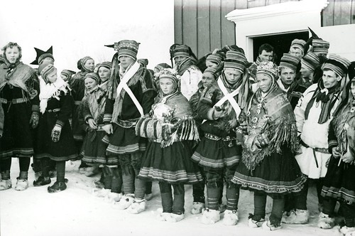 Samisk bryllup. Sami wedding. Finnmark, Norway. Photo by Preus Museum, 2012