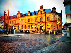 The #Eisenach post office #yesterday in the #evening.