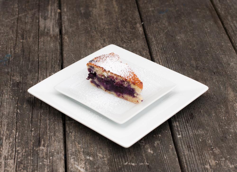 Blueberry ribbon cake