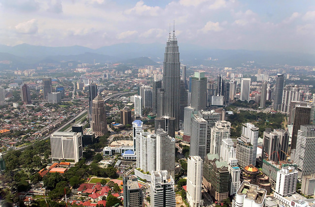 View of the Petronas Towers from KL Tower