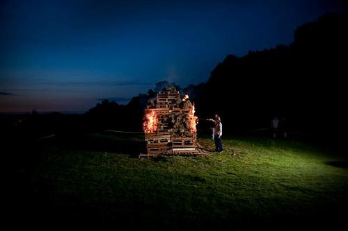 Caergwrle Castle Jubilee Beacon