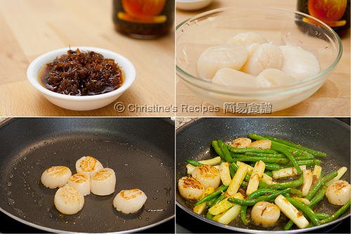 Pan Fried Scallops with XO Sauce Procedures