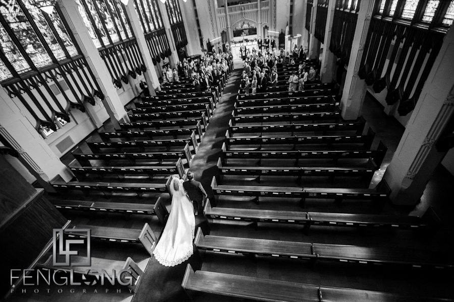 Brittany & Jarrett's Wedding | Peachtree Christian Church & Wahoo! Grill | Atlanta Decatur Wedding Photographer