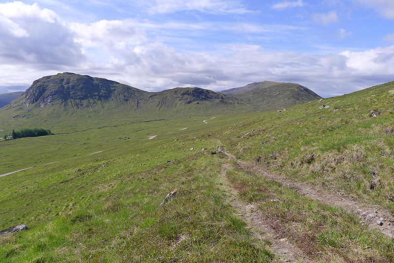The hills west of Strath Ossian