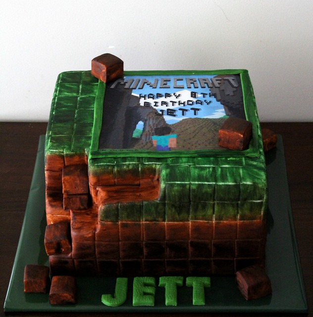 Minecraft Edible Image Cake Flickr Photo Sharing