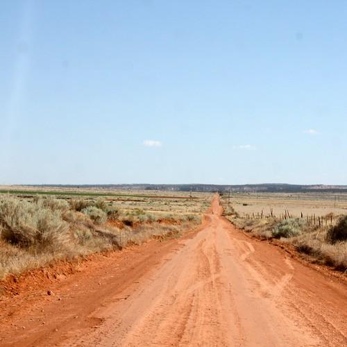 red dirt road!