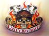 Flaming Skull (Harley Davidson) Acrylic and airbrush