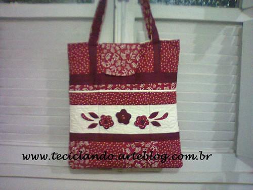 Bolsa floral Vera by Teciclando artes em tecidos