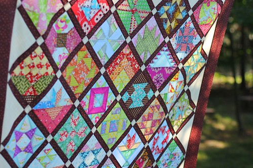 Farmer's Wife Quilt Top - detail at top