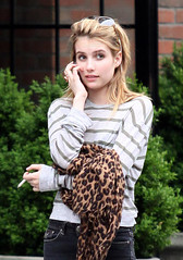 Emma Roberts Smoking Cigarettes
