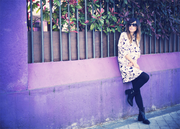 street style barbara crespo purple sheinside dress fashion blogger outfit blog de moda