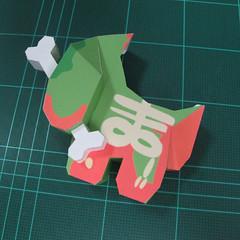 วิธีทำโมเดลกระดาษตุ้กตา คุกกี้ รัน คุกกี้รสซอมบี้ (LINE Cookie Run Zombie Cookie Papercraft Model) 022