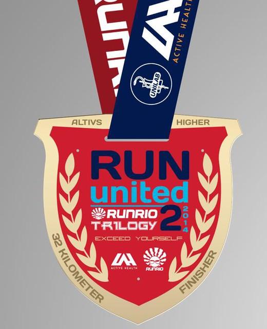 Run United 2 2014 finisher's medal