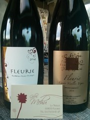 Two wines purchased from Domaine Gilles Mehu