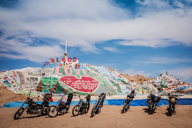Salvation Mountain with Motorcycles-1196
