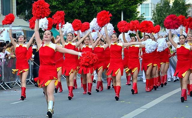 Карнавал в городе Лимассол Кипр