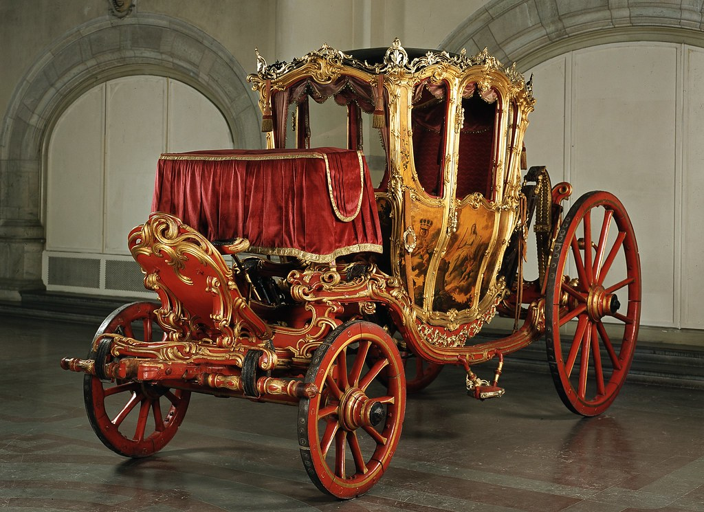1761 Rococo state carriage used by Gustav III and Sophia Magdalena of Sweden