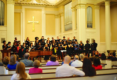 An appreciative audience experienced Jesse Gilbert's choral conducting recital on the theme of social justice. Photo courtesy of Jesse Gilbert