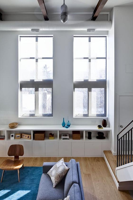 Interior-Riverdale-Loft-Apartment-with-Two-Windows-by-Beauparlant-Design
