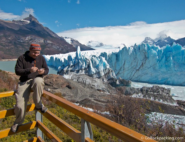 Tweeting from Perito Moreno Glacier in Argentina
