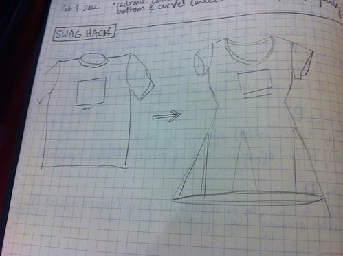 T-shirt Hack Schematic