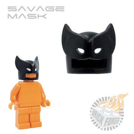 Savage Mask - Black (white eye print)