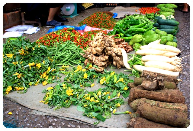 luang prabang morning market vegetables