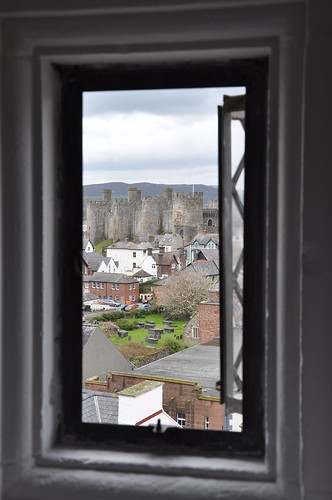 Plas Mawr view of Conwy Castle