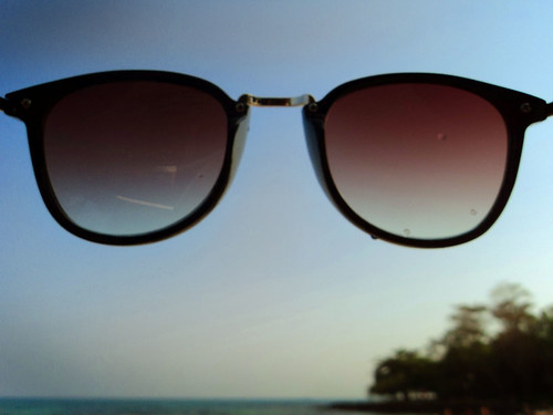 Sunglasses with beach @ Samed