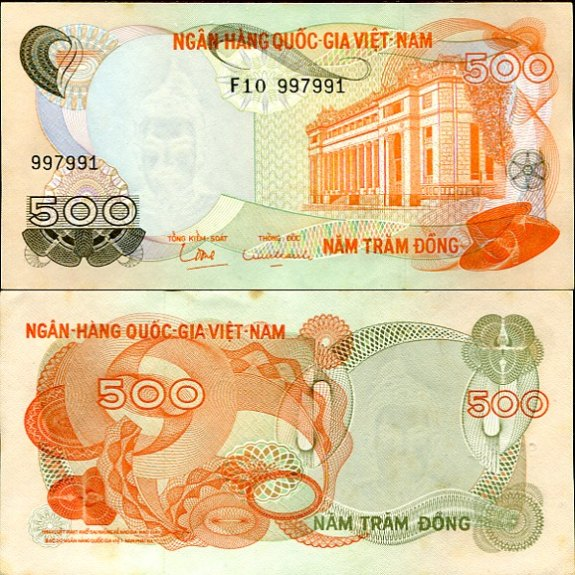 500 Dong Južný Vietnam 1970, Pick 28