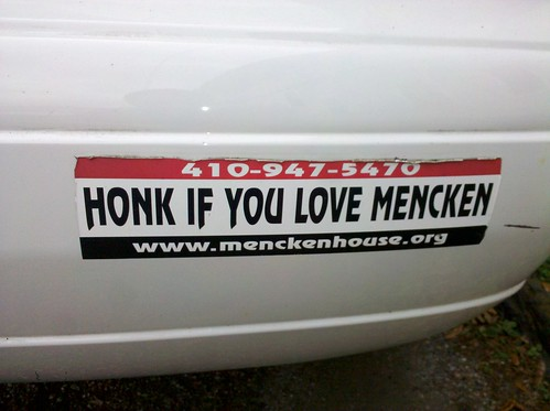 Honk if you love Mencken