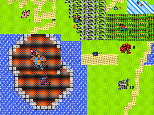 Monsters of Google Maps 8-bit