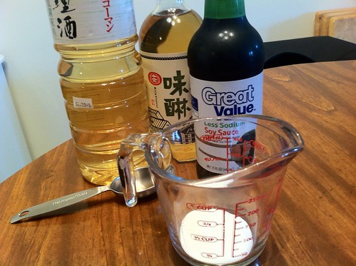 Ingredients for Teriyaki sauce