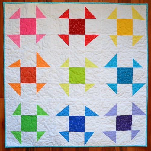 Wonky Baby Quilt before washing