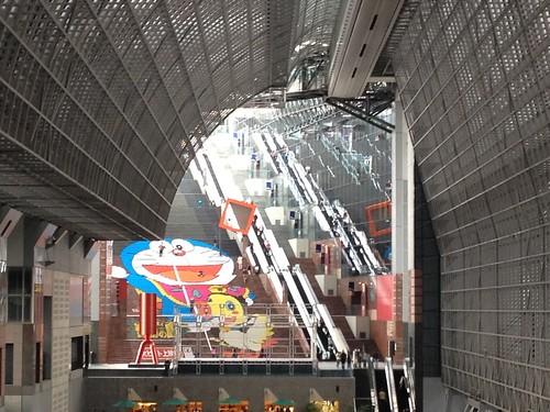 京都駅 ドラえもん ズームアップ